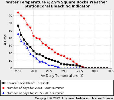 Coral Bleaching Thresholds at Square Rocks